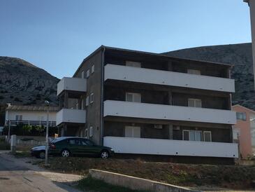 Pag, Pag, Объект 17357 - Апартаменты вблизи моря с галечным пляжем.