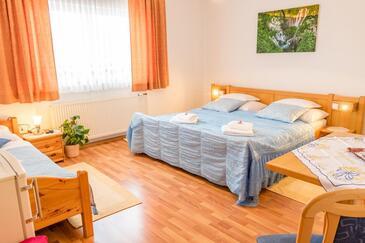 Selište Drežničko, Ložnice v ubytování typu room, s klimatizací a WiFi.