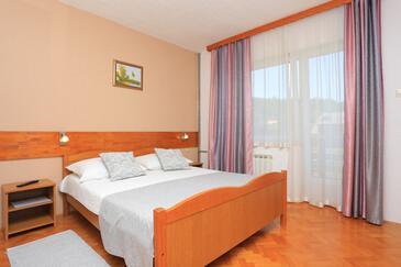 Grabovac, Spálňa v ubytovacej jednotke room, domáci miláčikovia povolení a WiFi.