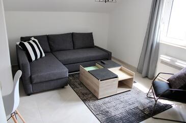 Žrnovska Banja, Obývací pokoj v ubytování typu apartment, s klimatizací a WiFi.