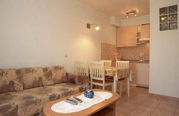 Vrsar, Living room in the apartment, air condition available and WiFi.