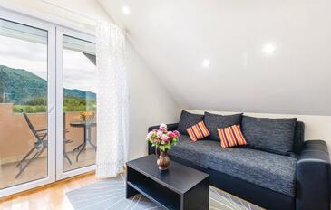 Jasenak, Obývací pokoj v ubytování typu apartment, s klimatizací, domácí mazlíčci povoleni a WiFi.