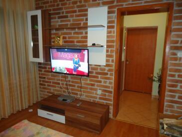 Grabovac, Obývacia izba v ubytovacej jednotke apartment, klimatizácia k dispozícii, domáci miláčikovia povolení a WiFi.