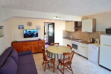 Mali Iž, Obývací pokoj v ubytování typu house, WiFi.