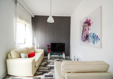 Zadar, Sala de estar in the apartment, (pet friendly) y WiFi.