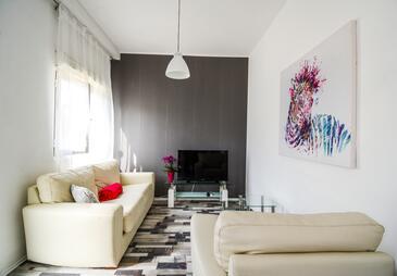 Zadar, Woonkamer in the apartment, (pet friendly) en WiFi.