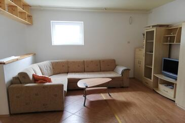 Buzet, Dnevna soba v nastanitvi vrste apartment, dostopna klima in WiFi.