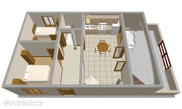Prižba, План в размещении типа apartment, Домашние животные допускаются и WiFi.