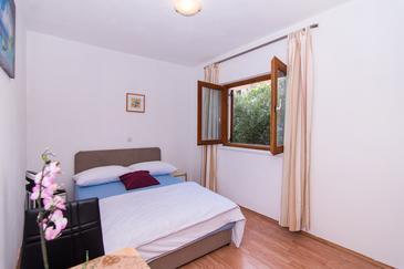 Trogir, Spálňa v ubytovacej jednotke room, klimatizácia k dispozícii a WiFi.