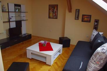 Slunj, Living room in the apartment, air condition available and WiFi.