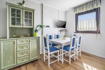 Rijeka, Jadalnia w zakwaterowaniu typu apartment, zwierzęta domowe są dozwolone i WiFi.