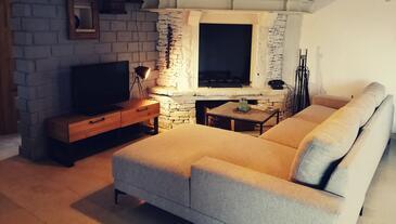 Režanci, Obývací pokoj v ubytování typu house, s klimatizací a WiFi.