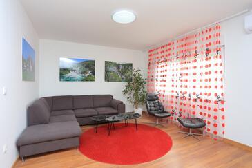 Solin, Dnevna soba v nastanitvi vrste apartment, dostopna klima in WiFi.