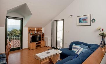 Bol, Obývací pokoj v ubytování typu apartment, WiFi.