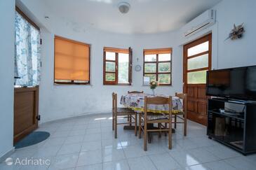 Zaglav, Blagovaonica u smještaju tipa apartment, dostupna klima i kućni ljubimci dozvoljeni.