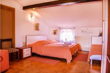 Buzet, Ložnice v ubytování typu room, s klimatizací, domácí mazlíčci povoleni a WiFi.