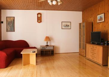 Medvinjak, Living room in the apartment, air condition available and WiFi.