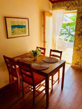 Supetarska Draga - Gonar, Sufragerie în unitate de cazare tip apartment, animale de companie sunt acceptate şi WiFi.