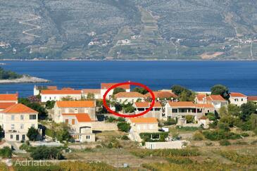 Lumbarda, Korčula, Objekt 179 - Ubytování s písčitou pláží.