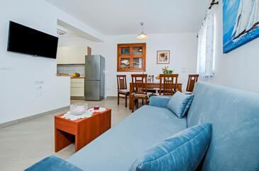 Rovinj, Obývací pokoj v ubytování typu apartment, WiFi.