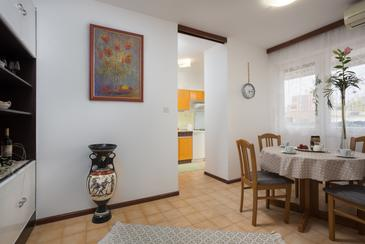 Split, Dining room in the apartment, air condition available and WiFi.