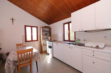 Sit, Dining room in the house, (pet friendly) and WiFi.