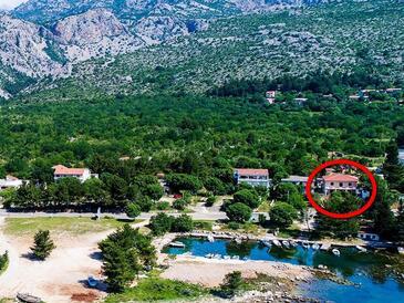 Seline, Paklenica, Objekt 17955 - Ubytování v blízkosti moře s oblázkovou pláží.