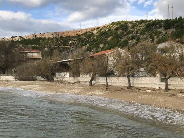 Duće, Omiš, Objekt 17957 - Ubytování v blízkosti moře s písčitou pláží.
