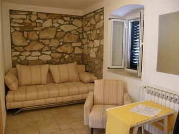 Primošten, Гостиная в размещении типа apartment, доступный кондиционер и WiFi.