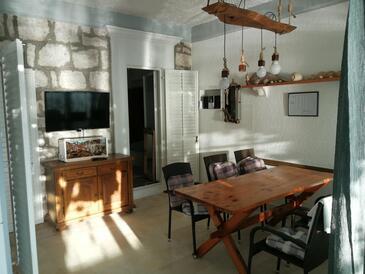 Žuljana, Jídelna v ubytování typu apartment, domácí mazlíčci povoleni a WiFi.