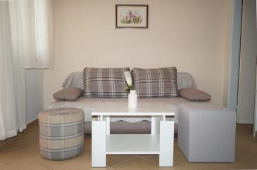 Šparadići, Pokój dzienny w zakwaterowaniu typu apartment, Dostępna klimatyzacja i WiFi.