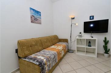 Mandre, Pokój dzienny w zakwaterowaniu typu apartment, Dostępna klimatyzacja i WiFi.