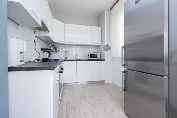 Preko, Kuchyně v ubytování typu house, domácí mazlíčci povoleni a WiFi.