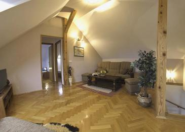 Otočac, Living room in the apartment, (pet friendly) and WiFi.