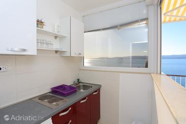 Mimice, Kuchyně v ubytování typu studio-apartment, WiFi.