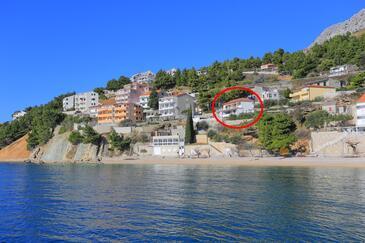 Mimice, Omiš, Objekt 18149 - Apartmaji v bližini morja s prodnato plažo.