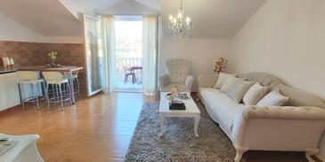 Dubrovnik, Obývacia izba v ubytovacej jednotke apartment, WiFi.