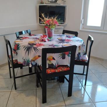 Sveti Juraj, Dining room in the apartment, (pet friendly) and WiFi.