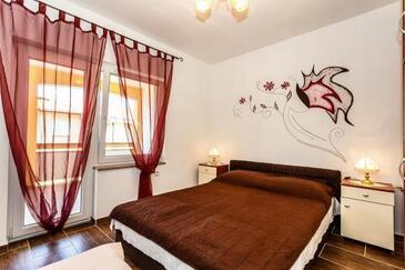 Malinska, Спальня в размещении типа room, доступный кондиционер и WiFi.