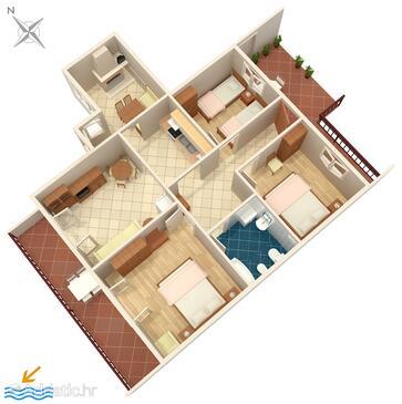 Zavalatica, Načrt v nastanitvi vrste apartment, WiFi.