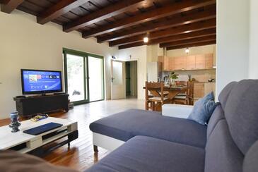 Sukošan, Гостиная в размещении типа house, доступный кондиционер и WiFi.