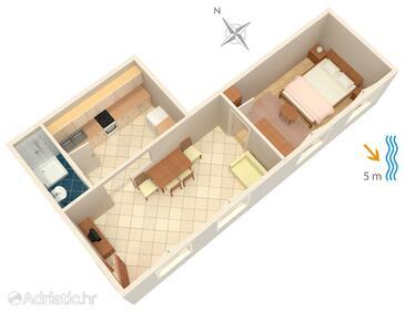 Zavalatica, План в размещении типа apartment, WiFi.