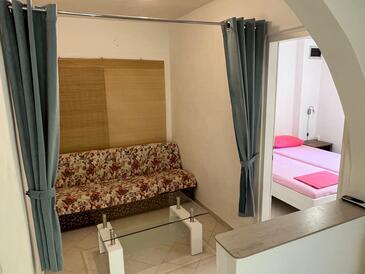 Novalja, Obývací pokoj v ubytování typu apartment, WiFi.