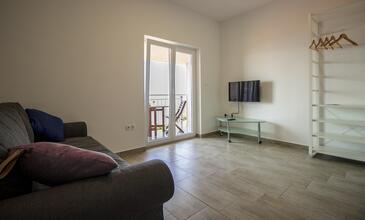 Lokva Rogoznica, Obývací pokoj v ubytování typu apartment, s klimatizací a WiFi.