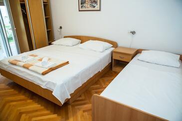 Lokva Rogoznica, Ložnice v ubytování typu room, s klimatizací a WiFi.