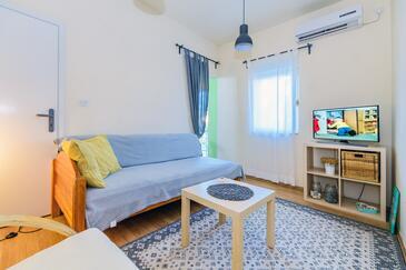 Zadar, Obývací pokoj v ubytování typu apartment, s klimatizací a WiFi.