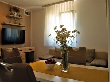 Osibova, Living room in the studio-apartment, air condition available, (pet friendly) and WiFi.