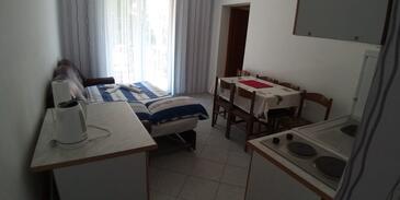 Kamenjak, Jídelna v ubytování typu apartment, WiFi.