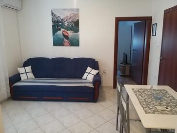 Kamenjak, Jídelna v ubytování typu apartment, s klimatizací a WiFi.