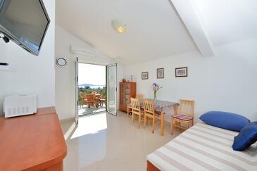 Ljubljeva, Obývací pokoj v ubytování typu apartment, domácí mazlíčci povoleni a WiFi.
